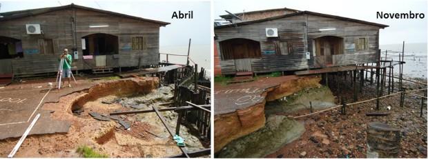 Em poucos meses orla sofreu assoreamento, em Macapá (Foto: Divulgação/Iepa)