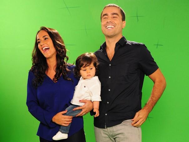 Família se diverte durante as gravações do vídeo, que fala sobre o Ano Brasil Portugal, que acontece entre os dias 7 de setembro deste ano até 10 de junho de 2013 (Foto: Estevam Avellar/ TV Globo)