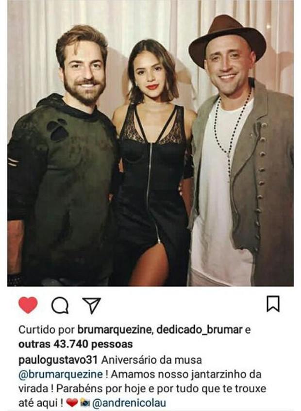 Thales Bretas, Bruna Marquezine e Paulo Gustavo (Foto: Reprodução/Instagram)
