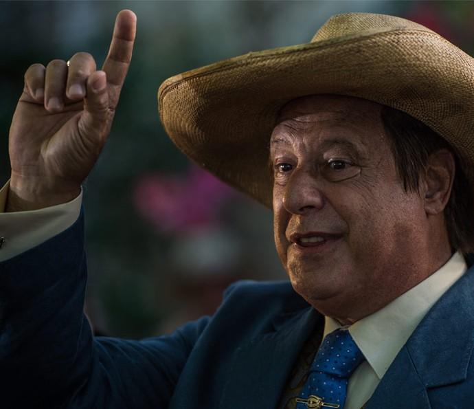 Afrânio declara que Miguel será seu sucessor (Foto: Caiuá Franco/ Globo)