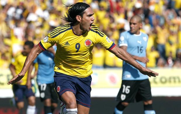 Falcao Garcia, Colômbia x Uruguai (Foto: Agência AP)