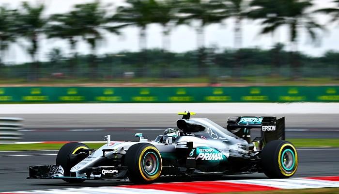 Nico Rosberg no treino do GP da Malásia