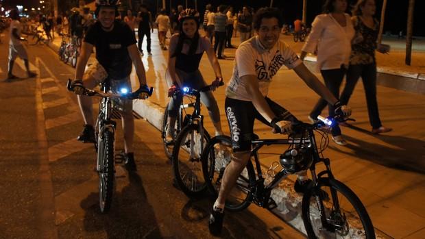 Bicicletada, em João pessoa (Foto: Larissa Keren)