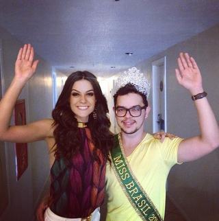 Melissa Gurgel e o maquiador Juarez Souza (Foto: Reprodução/Instagram)