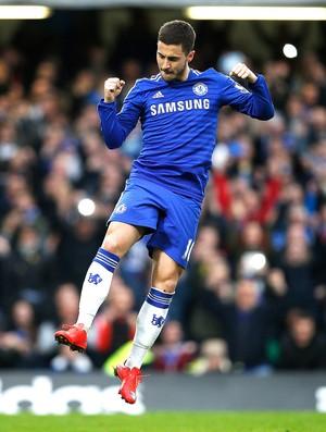 Hazard comemoração, Chelsea x Stoke City (Foto: Reuters)