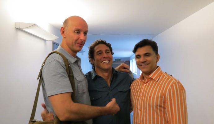 Tande, Flávio Canto e Ricardo Rocha (Foto: Daniel Cardoso)