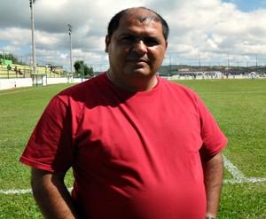 Amarildo Ribeiro, diretor de futebol do Nacional-MG (Foto: Larissa Bernardes / GLOBOESPORTE.COM)