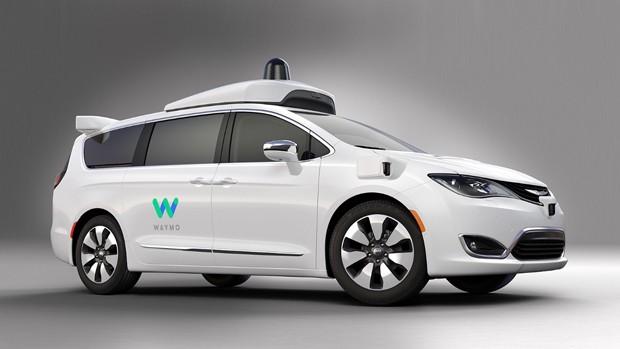 Chrysler Pacifica para a Waymo, do Google (Foto: Divulgação)
