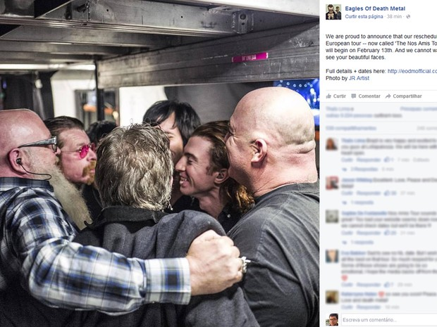Eagles of Death Metal anuncia turnê na Europa após ataques ao Bataclan (Foto: Divulgação / Facebook da banda)