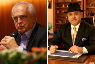 MONTAGEM - Leco e Newton do Chapéu, candidatos à eleição do São Paulo 280 (Foto: Editoria de Arte)