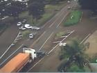 Câmera flagra acidente com carros e caminhão na BR-153 em Rio Preto