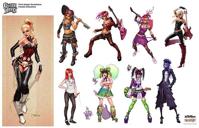 Personagens criados para os games do Guitar Hero (Foto: Divulgação/Activision)