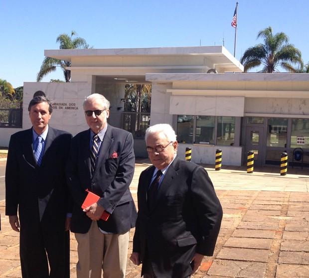 Integrantes da Comissão da Verdade se reuniram com a embaixadora dos Estados Unidos em Brasília (Foto: Priscilla Mendes / G1)