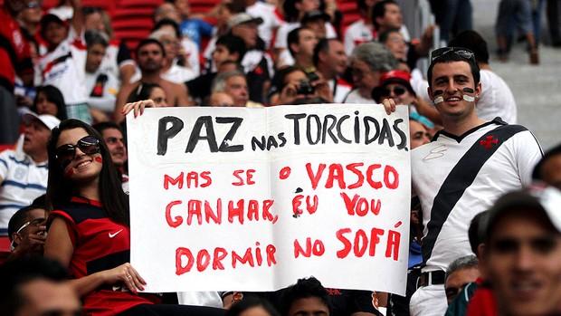torcidas vasco e flamengo estádio mané garrincha brasileirão (Foto: Francisco Stuckert / Futura Press)