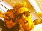 Neymar posa com cabelo arrepiado no avião: 'Partindo para Miami'