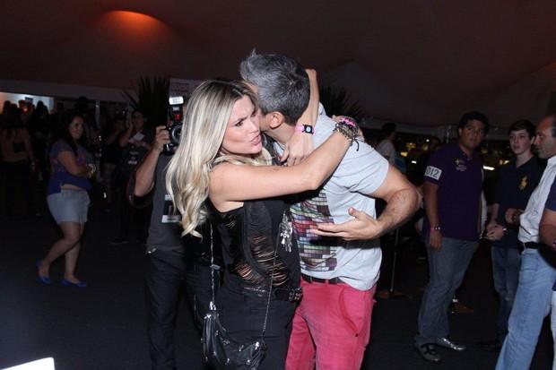 Flávia Alessandra e Otaviano Costa (Foto: Alex Palarea / AgNews)