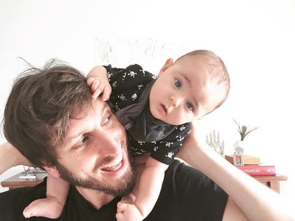 Henrique Sauer e o filho Martin  (Foto: Reprodução / Instagram)