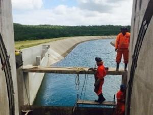 Novo tracho do Canal do Sertão deve ficar pronto em setembro (Foto: Divulgação/Agência Alagoas)