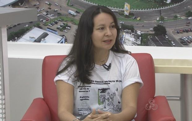 Coordenadora do projeto explicou como vai funcionar o 'Bazar da Troca' (Foto: Bom Dia Amazônia)