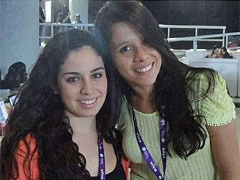 Karina Sudario e Renata Cerqueira participam pela primeira vez da Campus Party (Foto: Gabriela Alcântara/G1)