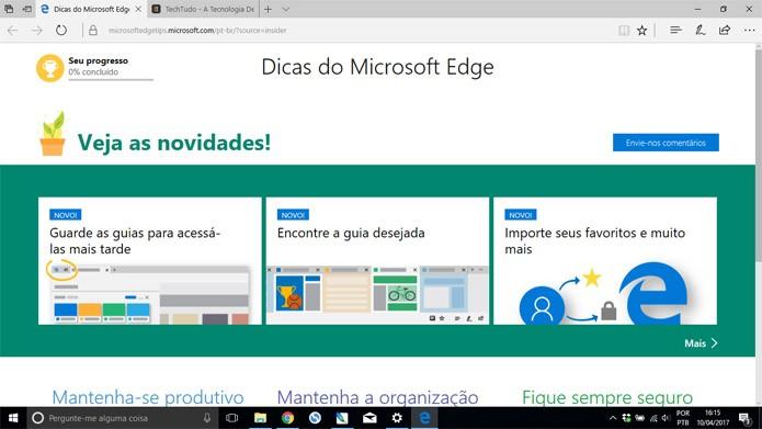 A Microsoft promete mais extensões para o Windows 10 (Foto: Reprodução)