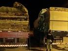 PRF apreende carga de madeira ilegal em rodovia federal no sudeste do Pará