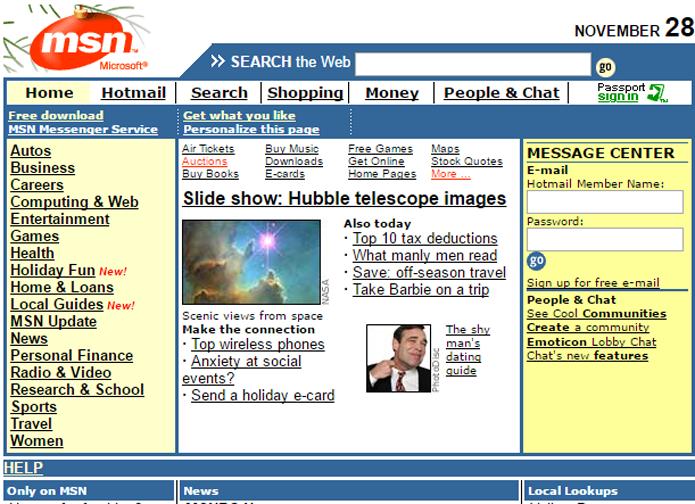 MSN Search foi o embrião do Bing, o site de pesquisas da Microsoft (Foto: Reprodução/Archive.org)