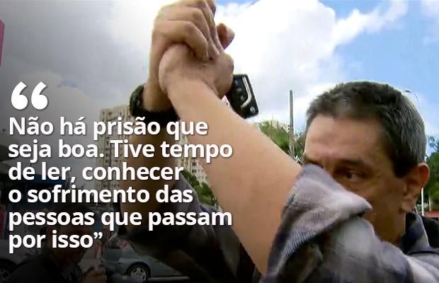 Roberto Jefferson deixa a prisão e vai para regime domiciliar (Foto: Reprodução / TV Globo)