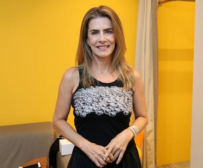 Maitê Proença paga promessa na TV (Foto: Isabella Pinheiro/Gshow)
