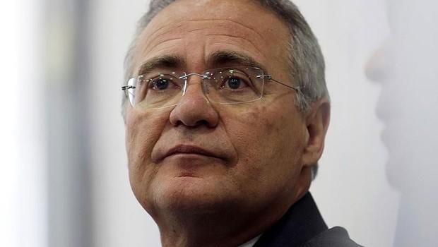 O presidente do Senado Renan Calheiros (PMDB-AL) em entrevista no Congresso (Foto: Adriano Machado/Reuters)