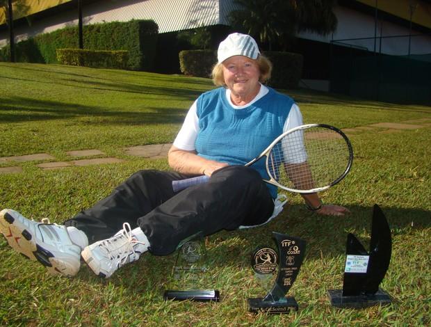 Frida, tenista de Uberlândia da categoria 70/74 anos (Foto: Divulgação/ Praia Clube)