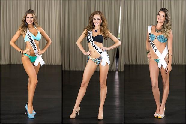 Miss Vinhedo / Miss São Caetano do Sul / Miss Ilhabela  (Foto: Lucas Ismael / BAND)