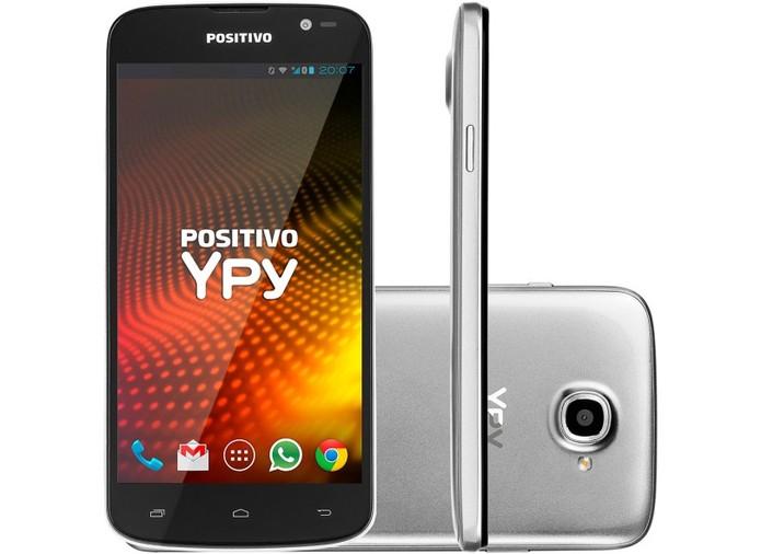 Positivo Ypy S500 tem telona de cinco polegadas e Android 4.2 Jelly Bean (Foto: Divulgação/Positivo)