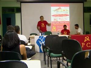 Convenção que anunciou Luiz Navarro como candidato a governador (Foto: Reprodução/TV Amazonas)