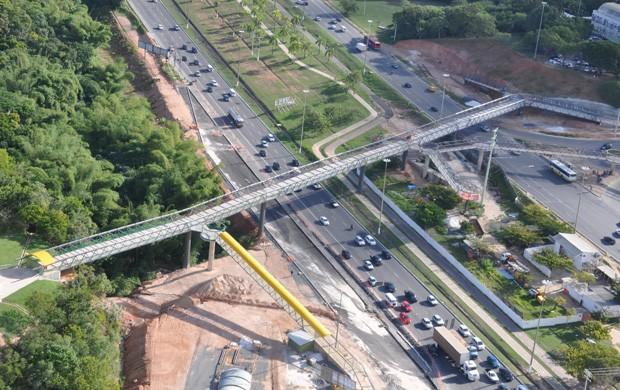 passarela pituaçu (Foto: Eric Luis Carvalho/Globoesporte.com)