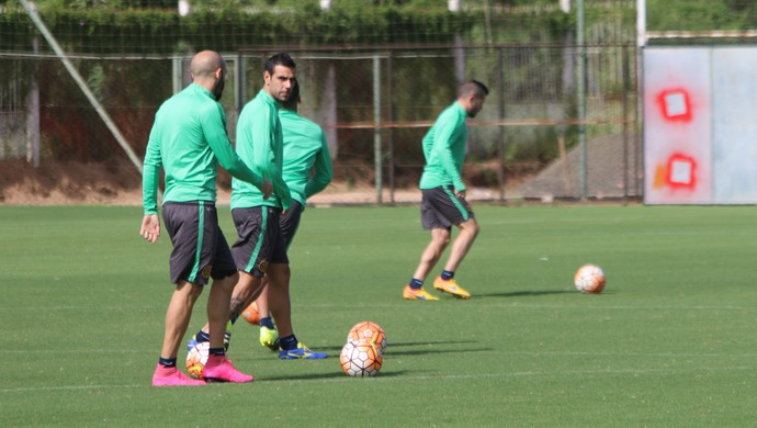 treino, Rosario Central, CT Parque Gigante, Libertadores, Herrera (Foto: Tomás Hammes/GloboEsporte.com)