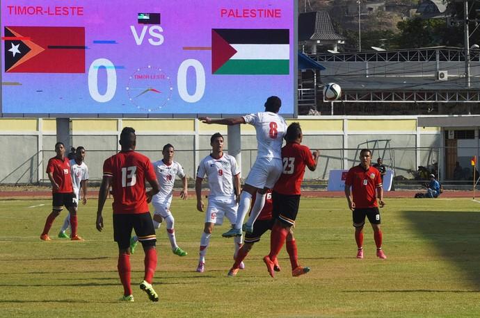 Palestina x Timor-Leste eliminatórias da Copa (Foto: AFP)