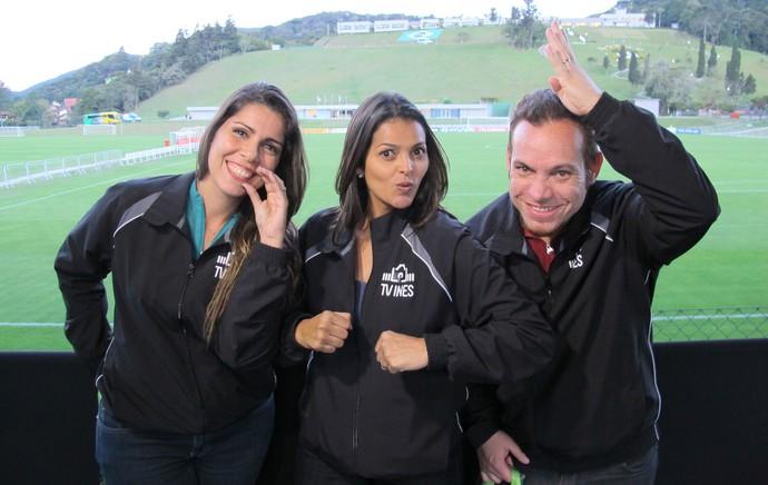 Clarissa, Andreza e Renato Sinais do Hexa (Foto: Leandro Canônico)