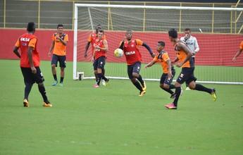 Sem Marinho e Real, mas com Vander artilheiro, Vitória treina no Barradão