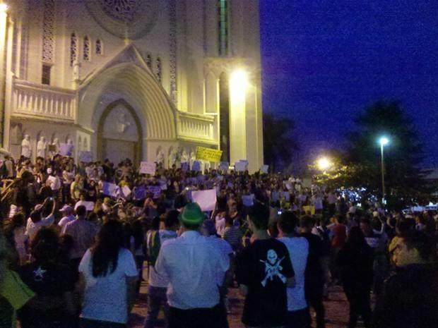 Protesto pacífico contou com 1,5 mil pessoas, segundo os organizadores (Foto: Samuel Sernaglia Calório/Arquivo pessoal)