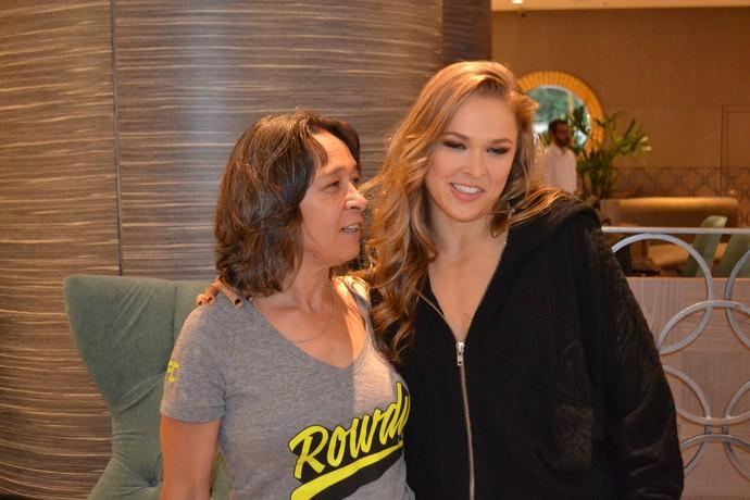 AnnMaria de Mars e Ronda Rousey UFC MMA (Foto: Raphael Marinho)
