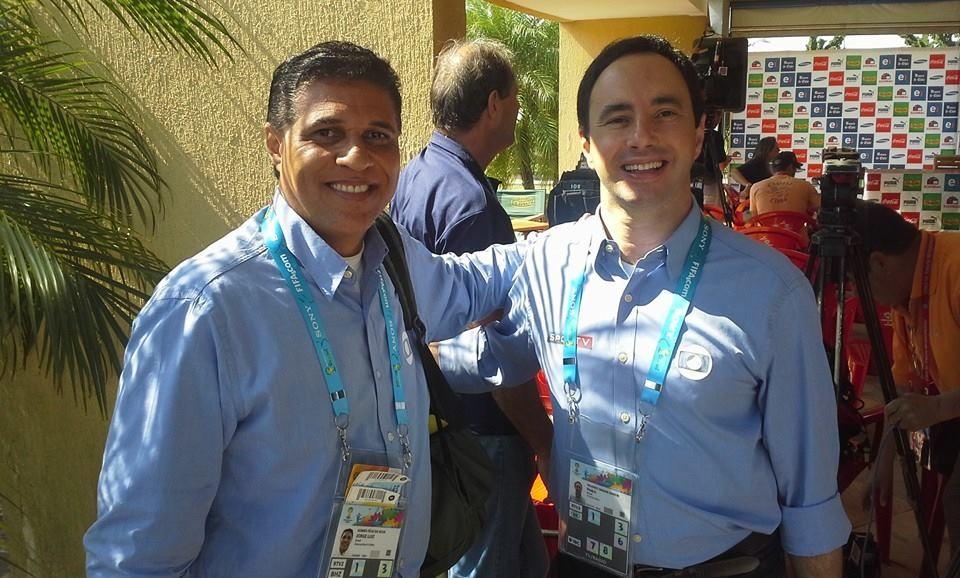 Jorge Félix com o jornalista Pedro Bassan (Foto: Arquivo Pessoal)