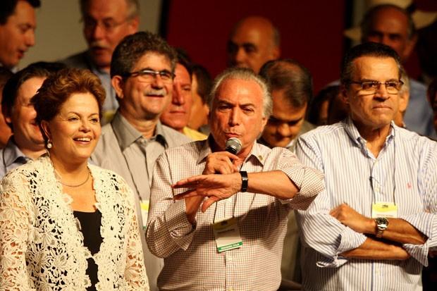Convenção Nacional do PMDB, neste sábado (2) em Brasília, deve reconduzir o vice-presidente da República, Michel Temer, à presidência do partido (Foto: Beto Barata/Estadão Conteúdo)
