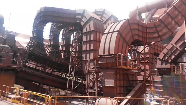 Usina de beneficiamento da mina de Fábrica, em Ouro Preto, que pertence à Vale (Foto: Reprodução/YouTube)