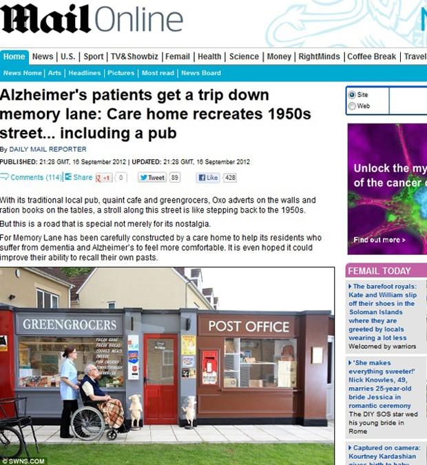 Alzheimer (Foto: Daily Mail/Reprodução)