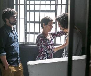 Renato Góes, Cássia Kis e Gabriel Leone gravam 'Os dias eram assim' | Globo/Rafael Campos