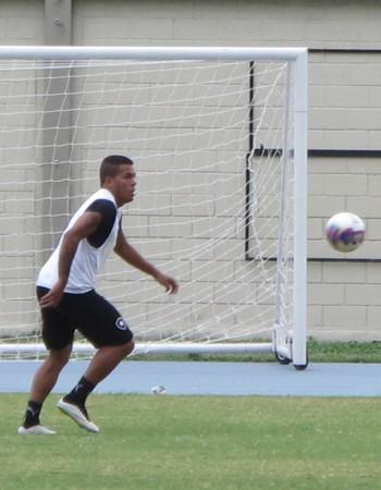 Carleto treino Botafogo (Foto: Gustavo Rotstein)