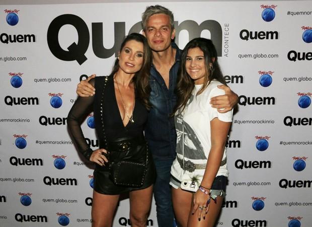 Flavia Alessandra, Otaviano Costa e Giulia Costa (Foto: Marcos Rosa / QUEM)