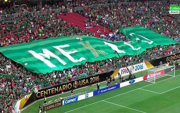 BLOG: Bandeirão causa briga entre torcidas de México e Uruguai em Phoenix; assista