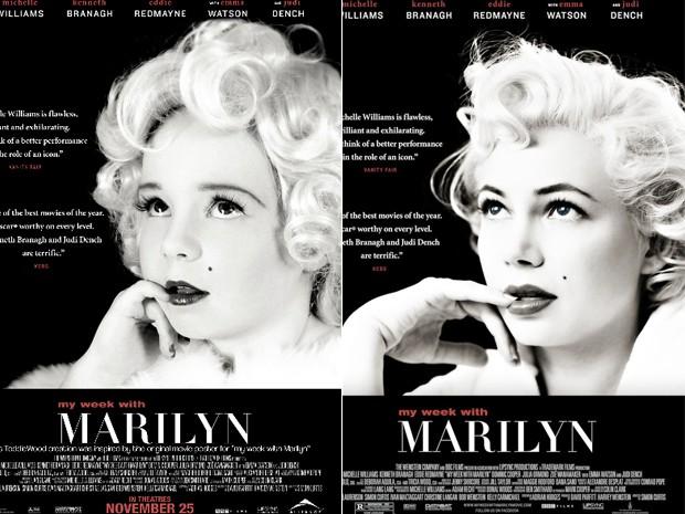 A fotógrafa Tricia Messeroux refez com crianças o cartaz do filme 'Marilyn' (Foto: Tricia Messeroux / Toddlewood.com e Divulgação)